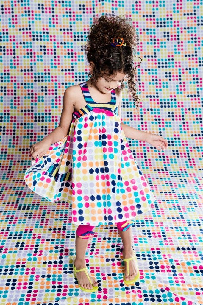 FIZZY POP 6 m @ 10 ans / yrs  Elyzabeth porte / wears :  Robe / Dress B97 Leggings B65  COLLECTION PRINTEMPS / ÉTÉ 2015  2015 SPRING / SUMMER COLLECTION  http://deuxpardeux.com/lookbook/#/look/fizzy-pop/