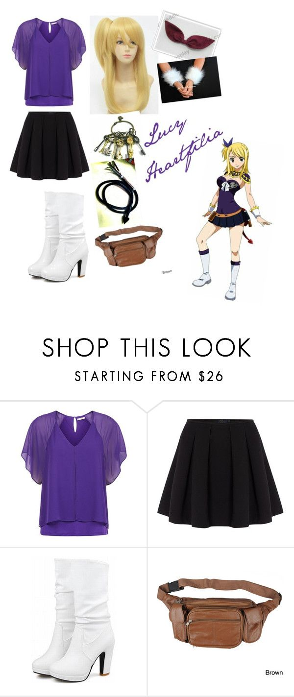 """""""FT: Lucy Heartfilia 5"""" by animewolfspirit1997 ❤ liked on Polyvore featuring Kaliko, Polo Ralph Lauren and Journee Collection"""