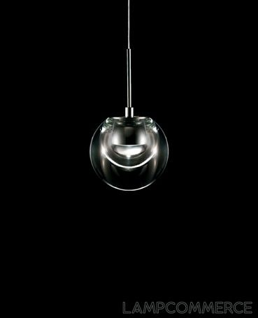 Kundalini- Dew suspension lamp: This suspension lamp features a glass diffuser that not only helps to distribute the light, but also adds a sleek modern design element. Made with die-cast aluminium and lit up with mains-power LED the lamp works beautifully in halls, dining room, bathroom, bedroom, or kitchen.