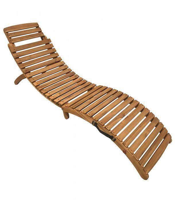 Sam Reg Sonnenliege Holz Gartenliege Holz Liegestuhl Saunaliege
