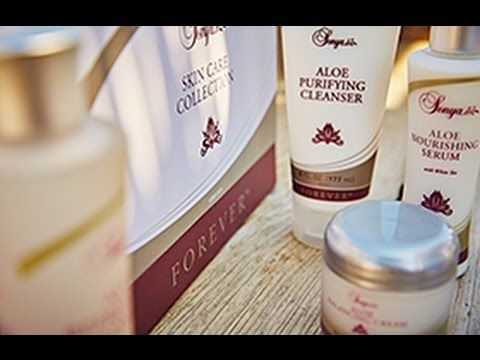 Tutorial - Sonya Skincare | Aloe Balancing Cream.  Enriched with aloe, vitamin E and white tea, this rich face cream helps to restore and balance your skin's natural moisture, leaving it feeling well hydrated. It contains revitalising extracts to help maintain the clarity, texture and tone of the skin, and naturally exfoliates the build-up of dead skin cells to make way for a more radiant appearance. Use in conjunction with the Aloe Nourishing Serum.  Please visit www.forever-strong.flp.com