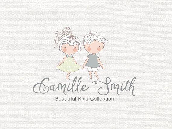 Pre made Logo, Kids Logo Design, Baby Boutique Logo, Children Logo, Baby neutral…