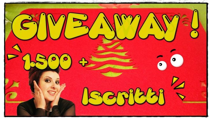 Giveaway 1.500 + ISCRITTI! • •• AhC •• •