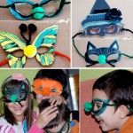 Halloween masks: Print a simple templates - use your imagination to embellish it!