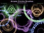 Arcane Circles-Symbols Photoshop and GIMP Brushes by redheadstock