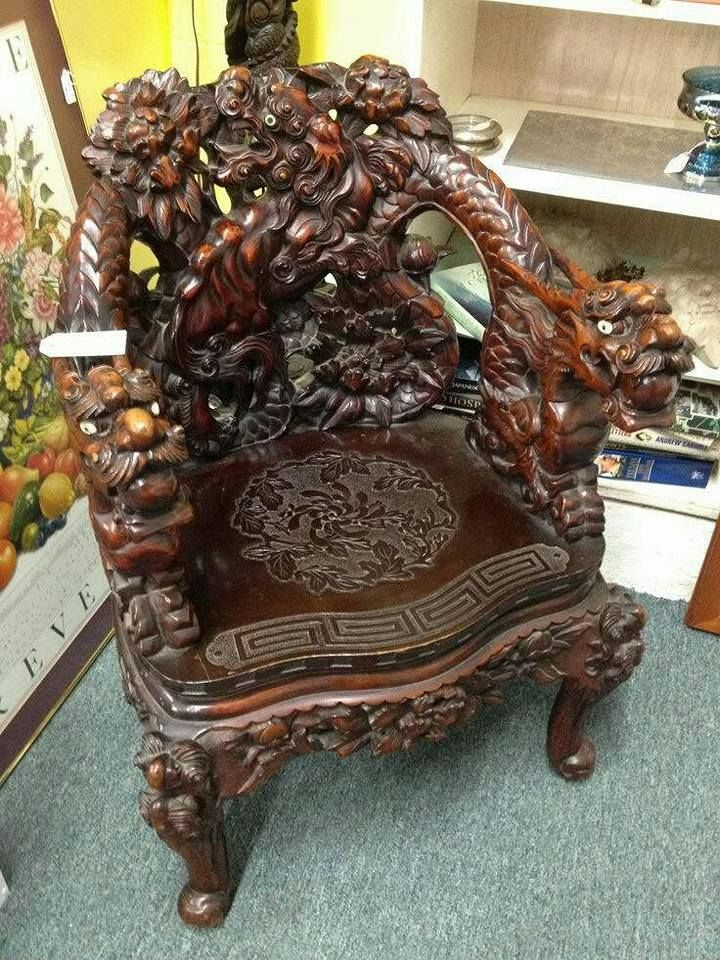 Rococo Furniture, Royal Furniture, Vintage Furniture, Asian Chairs, Dragon  Mythology, Chinese Furniture, Woodwork, Antique Wooden Chairs, Cement Steps