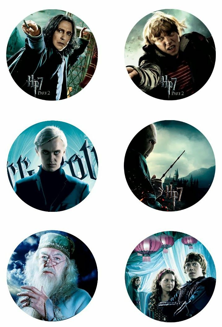 Harry Potter free digital bottle cap images 1""