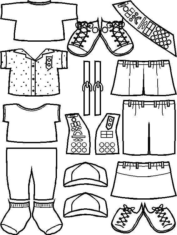 Girl Scout Junior Clothes for Paper Dolls from Making Friends