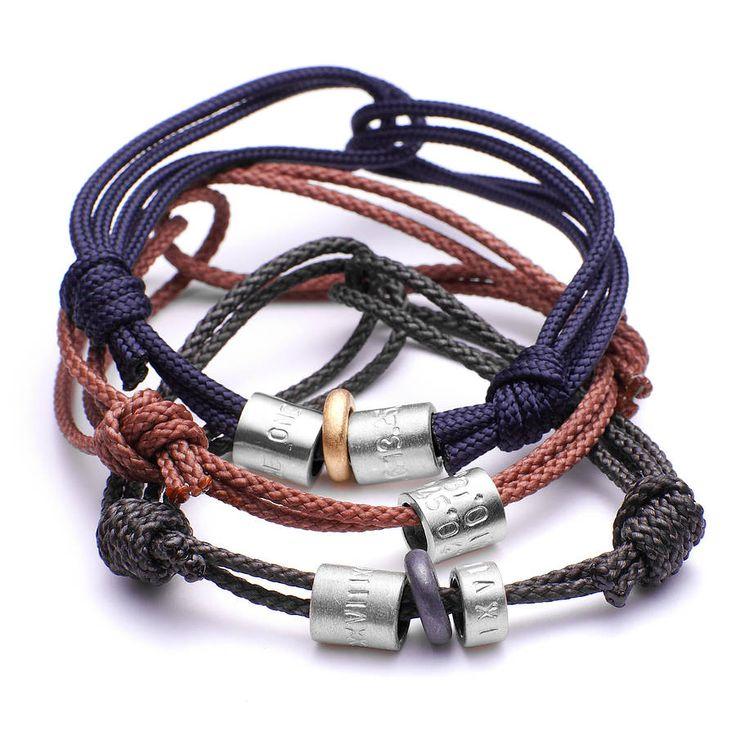 personalised men's silver bead bracelet by chambers & beau | notonthehighstreet.com