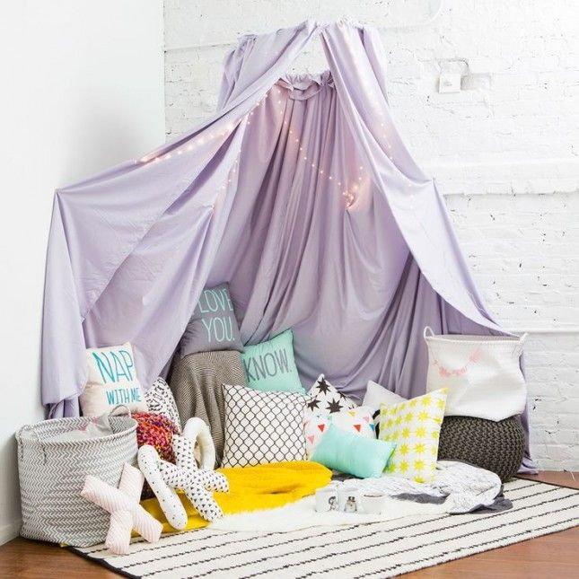 Spend date night indoors and build a homemade fort.
