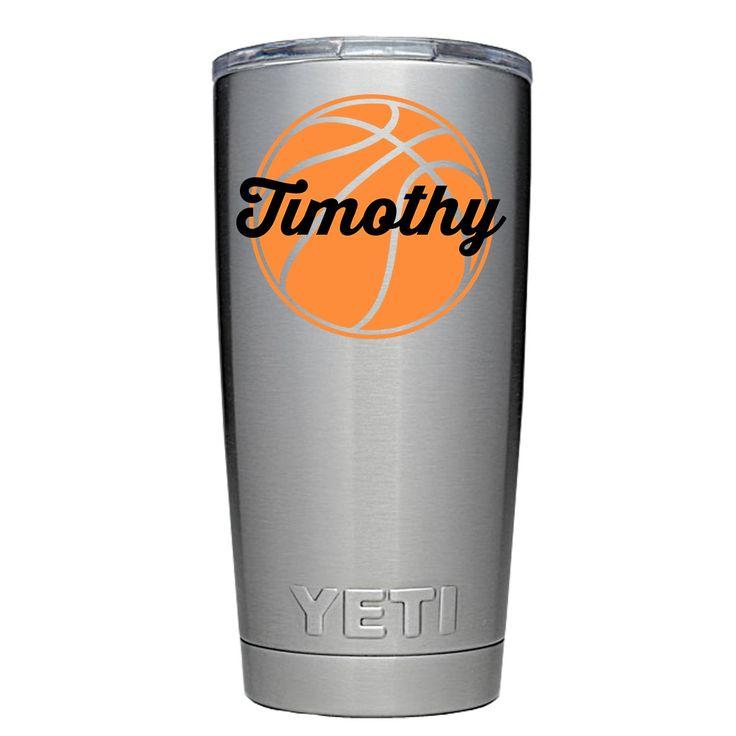 YETI 20 oz Personalized Basketball Design Tumbler