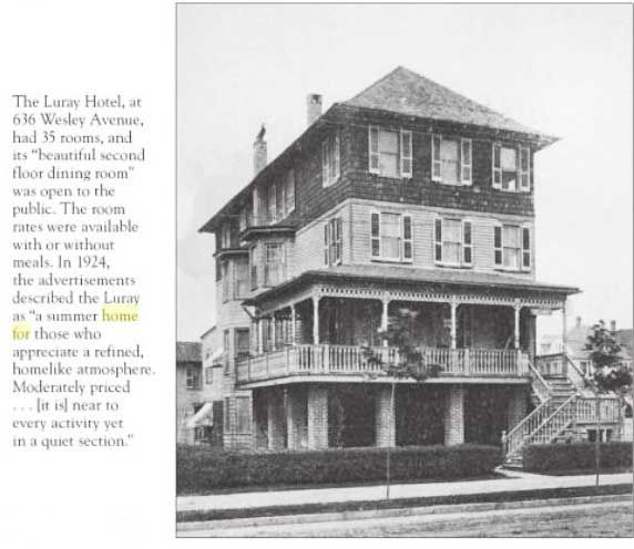 1924 The Luray Hotel 636 Wesley Ave Ocean City Nj Prior To 1970 Pinterest