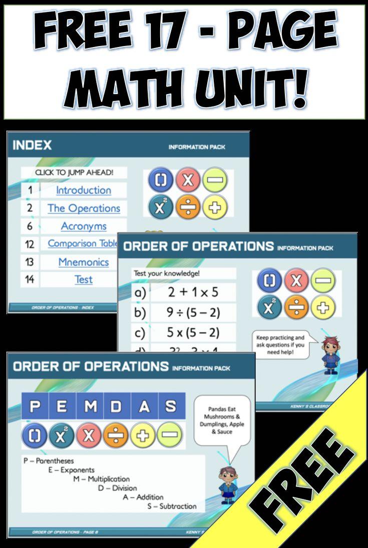 Free Order Of Operations Pemdas Bodmas Gema Order Of Operations Free Math Pemdas [ 1095 x 735 Pixel ]