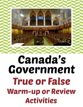 Canada's Government - Mega Bundle of 7 Resources!