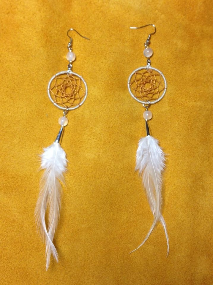 More dreamcatcher feather earrings