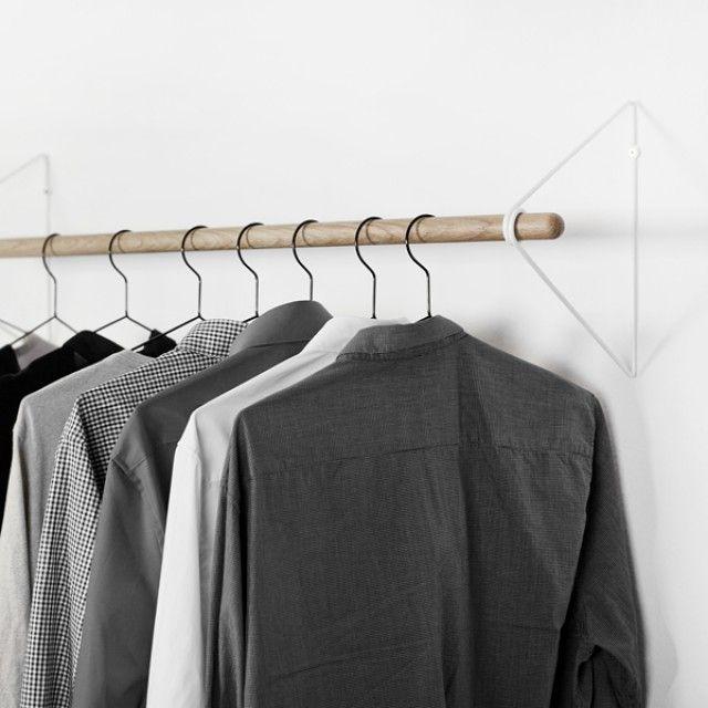 kleiderstange wand hakk nda pinterest 39 teki en iyi 20. Black Bedroom Furniture Sets. Home Design Ideas