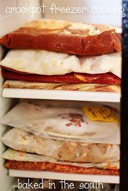 Crockpot Freezer Recipes