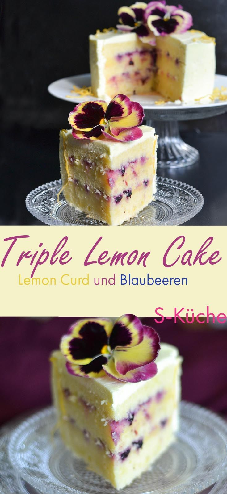Recipe for Triple Lemon Cake with Blueberry and Stiefmetter. Zitronenkuche …   – Chefkoch ♥ Foodblogger