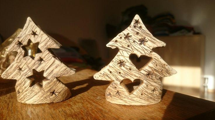 Stromečky z keramiky na svíčku