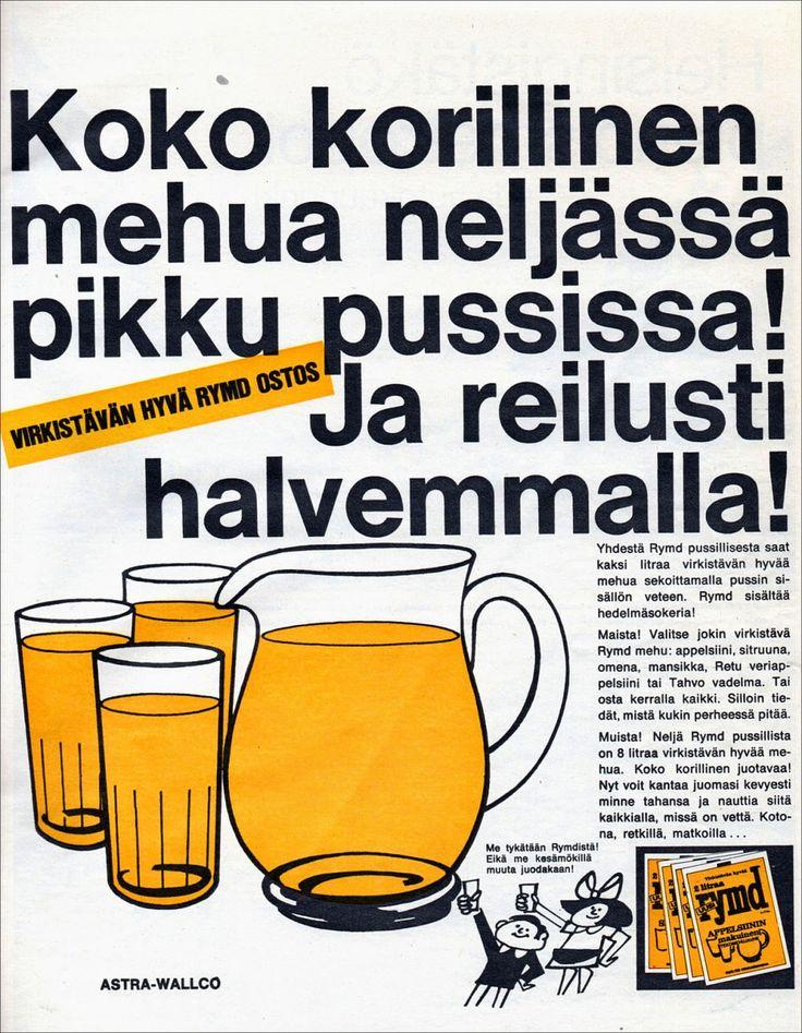 Rymd-mainos Kauppa ja Koti -lehdessä 1971 (70-luvulta, päivää ! -blogi)