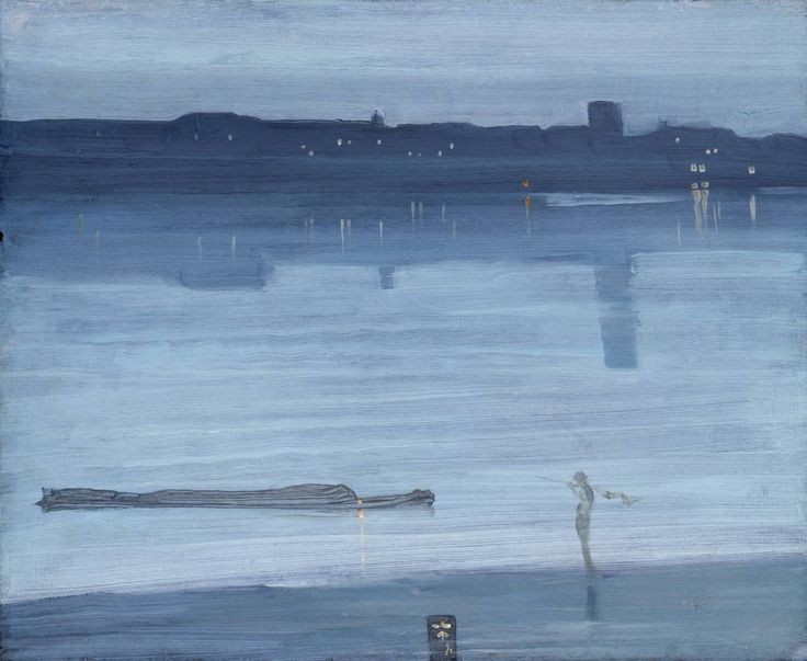 Whistler-Nocturne, Blue and Silver-Chelsea; Romanticism and the Victorian Era | England |