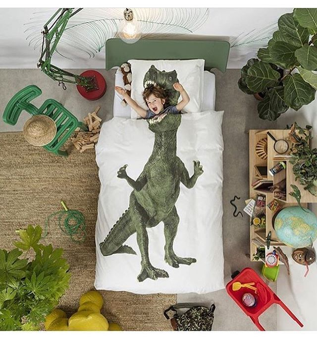 WEBSTA @ kidscornerdecor - Good morning!!! I'm currently designing a room for a dinosaur lover boy, using this duvet cover from @snurkdenmark Isn't it awesome? 💚#dinolover #boysroom #kidsroom #kidsdecor #kidscornerdecor