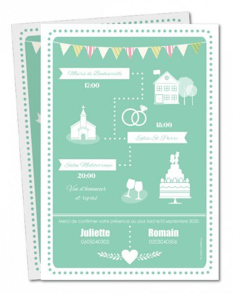 Faire part mariage original : vintage, hipster, rétro... à personnaliser │ Planet-Cards.com