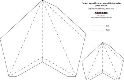 Best 5 point star template I've ever found. Comes with two sizes in one sheet!  Just print out and cut 5.
