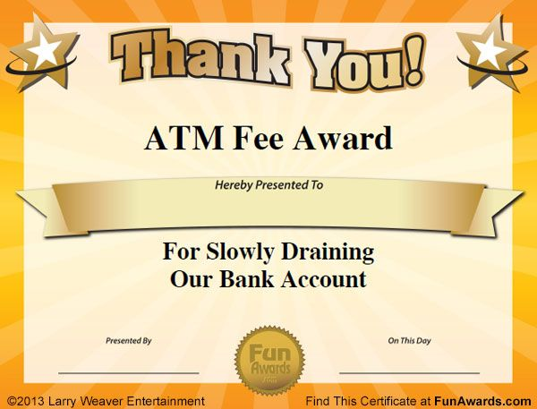 free funny award certificates templates | Sample Funny Office Awards: 101 in All PLUS 6 Certificate Templates!