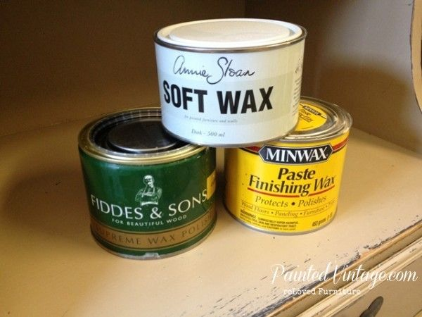 To Wax or Not To Wax Over Chalk Paint? Three choices Annie Sloan (clear), Fiddes & Son or Minwax Paste Finishing Wax