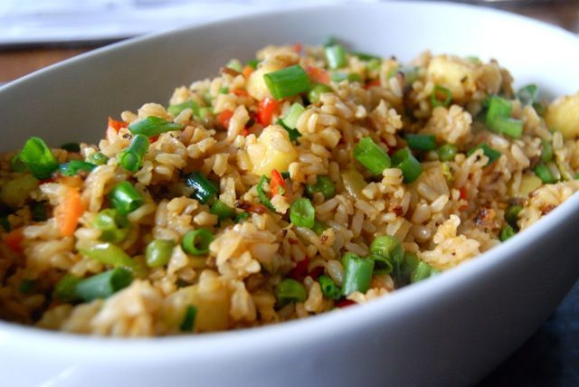 Pineapple Fried Rice The Daily Dish 170 Mg Of Sodium Per Serving In 2019 Pineapple Fried