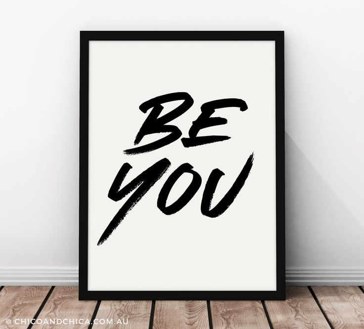 Typographical - Be You - Kids Print - Chico & Chica
