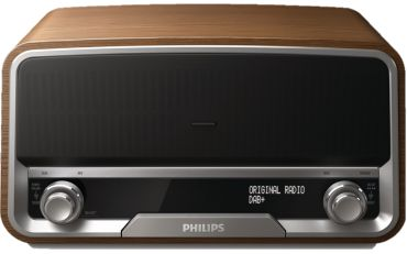 Micro Sistema de Áudio Retro Philips Ord7300/10 Rádio FM, MP3 Link, Docking Para iPod e iPhone