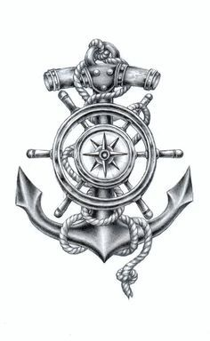 Image result for compass and anchor tattoo