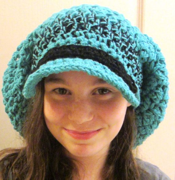 Free Crochet Pattern Slouchy Hat With Brim : Crochet Pattern Hat Slouch Hat Chunky Hat Brim Crochet ...