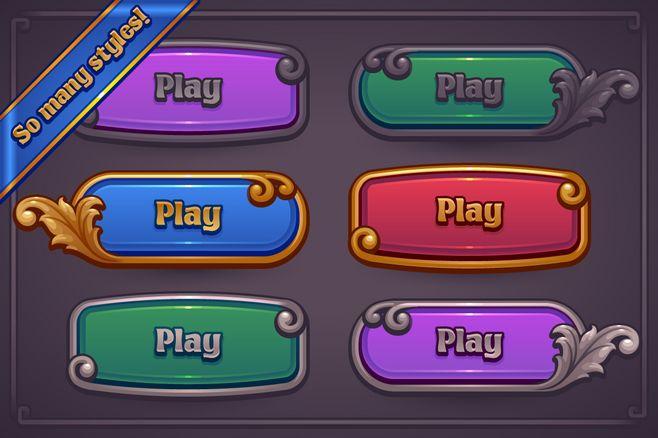 Fantasy Game Button ...