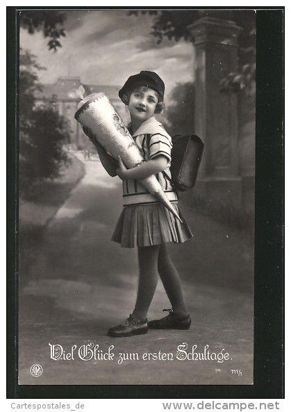 Cartoline > Tematica > Auguri - Feste > Primo giorno di scuola - Delcampe.net