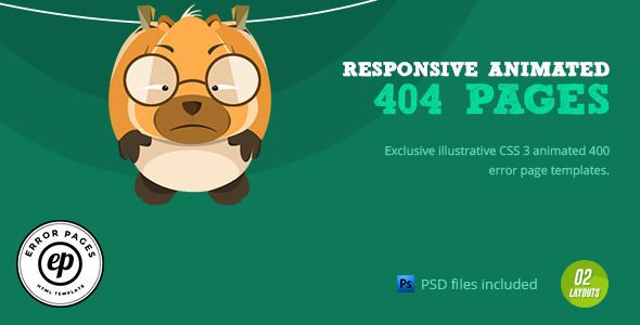 404 Error | CSS Animated Html Template  - 404 Pages Specialty Pages