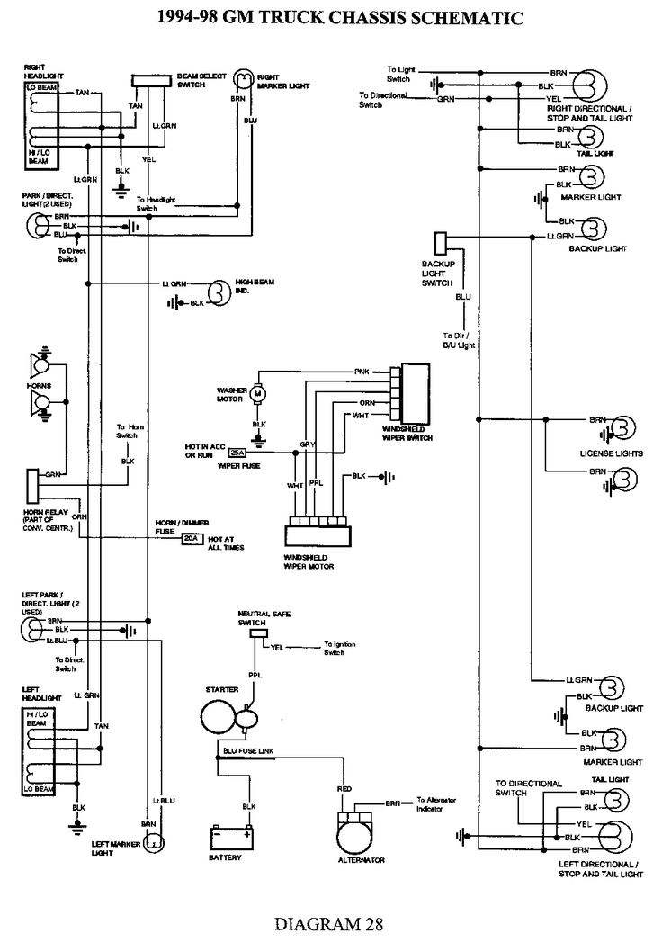 1998 chevrolet truck k2500hd 3/4 ton p/u 4wd 6.5l turbo ... chevy 3500 wiring diagram