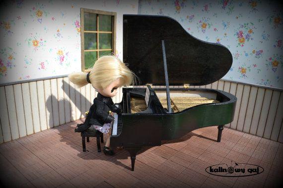 grand piano forte miniature 1:12 or 1/6 scale by KalinowyGaj