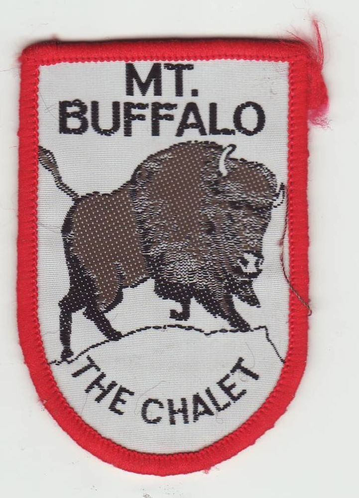 Fabulous image of a buffalo on this Mt Buffalo cloth patch - highlighting 'The Chalet' - this patch sold for $50.50 - and I was the one who sold it! Who knows what a patch will sell for?