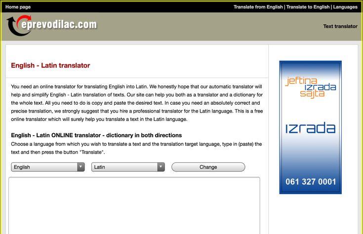 English - Latin online translation | Text translator | Free dictionary