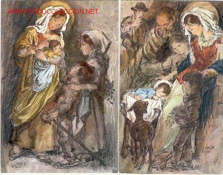 2 postales navidad ilustradas por VICENTE ROSO