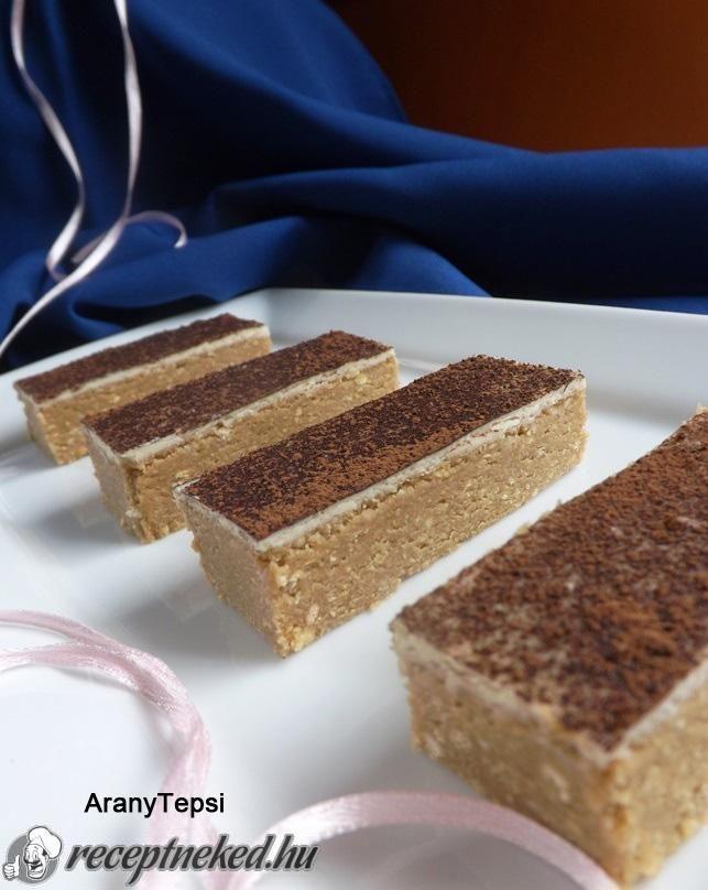 Kipróbált Cappuccino szelet sütés nélkül recept egyenesen a Receptneked.hu gyűjteményéből. Küldte: aranytepsi