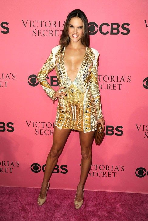 Alessandra Ambrosio Show Viewing Party Balmain Dress Top Sexiest Girls In The World 2014 | Top Sexiest Girls In The World 2014
