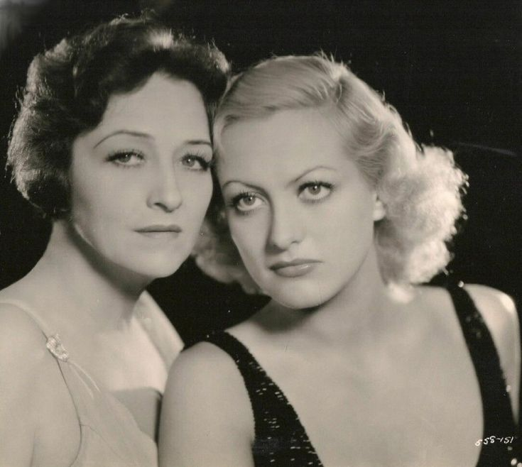 Joan Crawford and her own mother Anna Bell Johnson