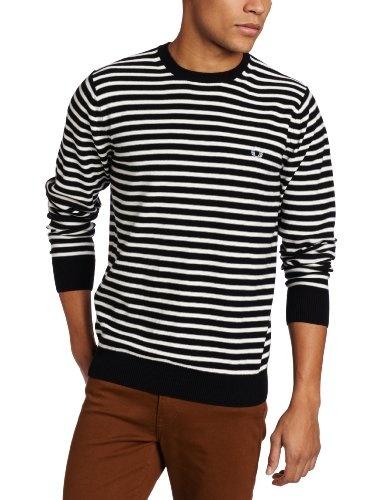 Fred Perry Men's Block Breton Stripe Crew Neck « Impulse Clothes