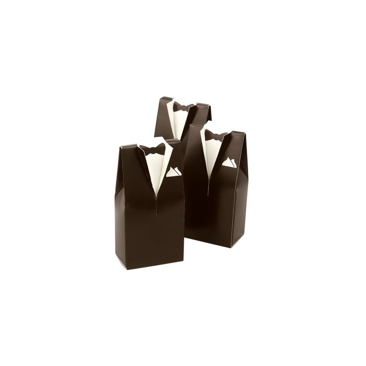 25ct Brown Tuxedo Favor Boxes