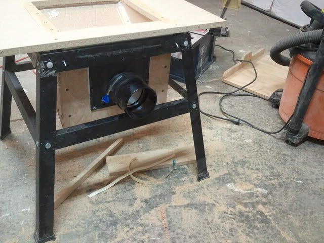 Contractor Table Saw Dust Collection Upgrade Workbenches Pinterest Table Saw Tables And