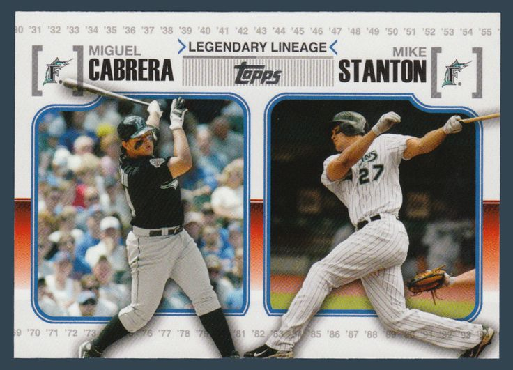 Miguel Cabrera / Mike Stanton # LL 66 - 2010 Topps Update Baseball Legendary Lineage